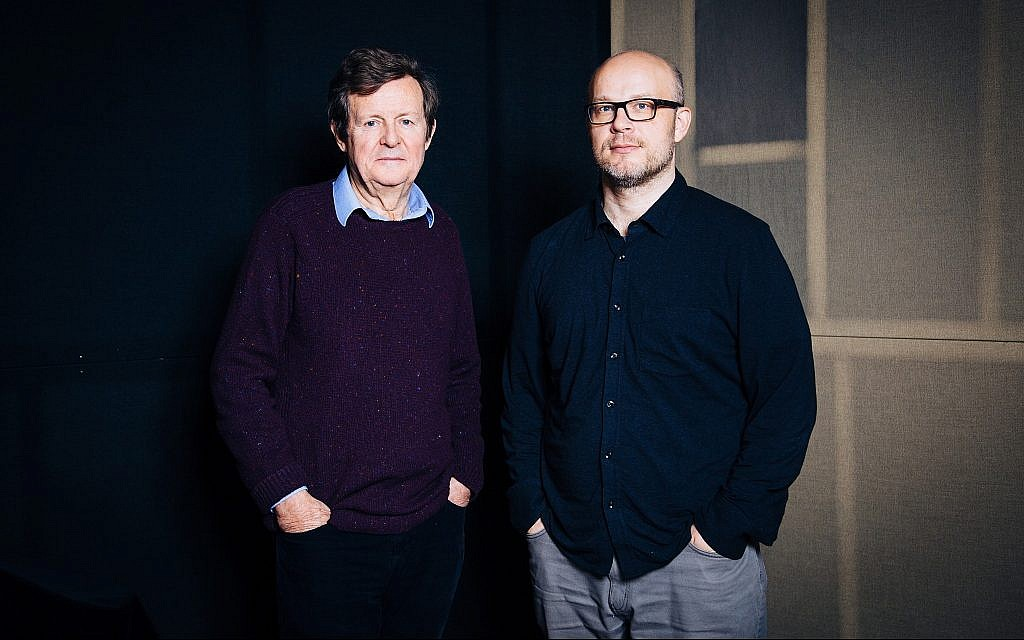 'Wall' filmmaker Cam Christiansen, left, and writer-subject David Hare. (Courtesy of the National Film Board of Canada)