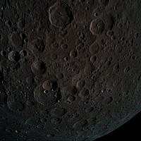 The Beresheet spacecraft snapped this picture of the moon's surface at a height of just 440 kilometers during the lunar capture maneuver on April 4, 2019. (Courtesy Beresheet)