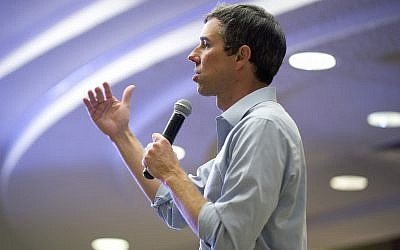 Democratic presidential candidate and former Texas congressman Beto O'Rourke speaks during a campaign event in Sioux City, Iowa, April 4, 2019. (Justin Wan/Sioux City Journal via AP)
