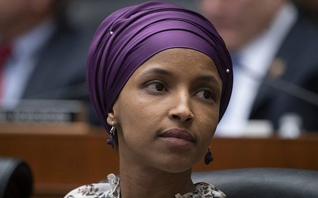 Rep. Ilhan Omar, Democrat of Minnesota, on Capitol Hill in Washington on March 6, 2019. (AP Photo/J. Scott Applewhite, File)