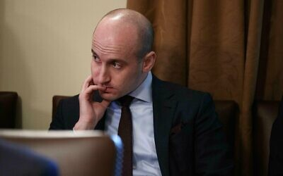 In this January 2, 2019, file photo White House senior adviser Stephen Miller listens as US President Donald Trump speaks during a cabinet meeting at the White House in Washington. (AP Photo/Evan Vucci, File)