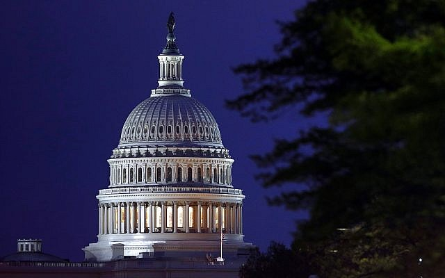 The dome of the US Capitol on April 18, 2019, in Washington. (AP Photo/Patrick Semansky)