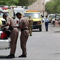 Illustrative. Saudi policemen at the site of a shootout in Riyadh, Saudi Arabia, on August.18, 2005, with Al-Qaida terrorists. (AP Photo/File)