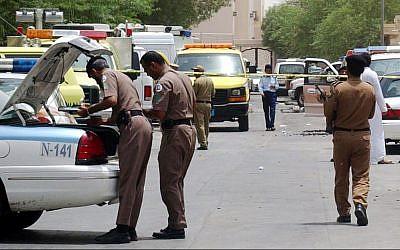 Illustrative. Saudi policemen at the site of a shootout in Riyadh, Saudi Arabia, on August.18, 2005, with Al-Qaida terrorists. (AP Photo/File)