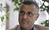 Omar Barghouti gives an interview in the West Bank city of Ramallah on May 10, 2016. (AP Photo/Nasser Nasser)