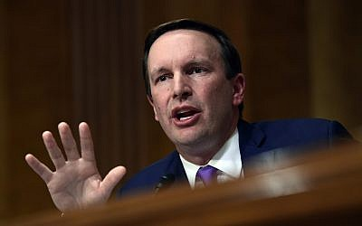 Democratic Senator Chris Murphy of Connecticut at the Senate Foreign Relations Committee on Capitol Hill in Washington, July 25, 2018. (AP Photo/Susan Walsh)