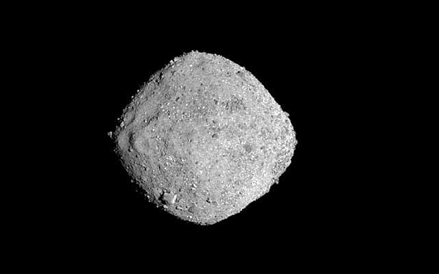 This Nov. 16, 2018, image provide by NASA shows the asteroid Bennu (NASA/Goddard/University of Arizona via AP)