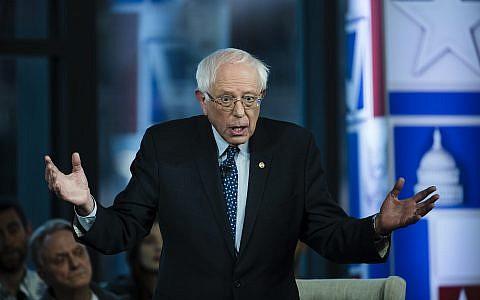 Sen. Bernie Sanders, I-Vt., takes part in a Fox News town-hall style event, Monday April 15, 2019 in Bethlehem, Pa. (AP/Matt Rourke)