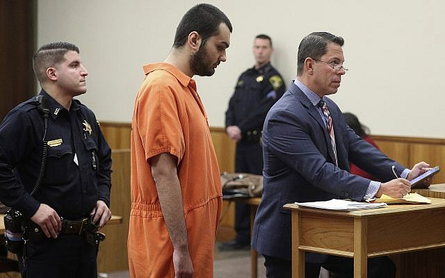 Vincent Vetromile appears in court in Rochester, New York, on  March 7, 2019, charged with three others for plotting to attack an Islamic community in upstate New York. (Jamie Germano/Democrat & Chronicle via AP, Pool)