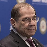 US Rep. Jerrold Nadler, D-NY, chair of the House Judiciary Committee, speaks during a news conference, Thursday, April 18, 2019, in New York. (AP Photo/Mary Altaffer)