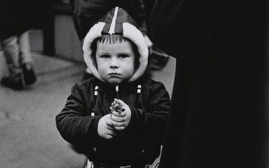 Detail of a boy in a hooded jacket, photographed by Diane Arbus. (Diane Arbus exhibition, London)