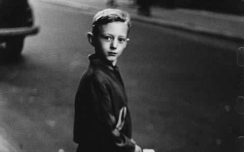 Detail from a boy stepping off the curb, by photographer Diane Arbus. (Diane Arbus exhibition, London)