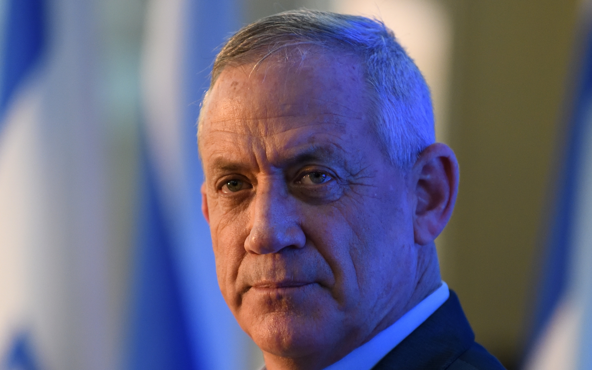 Blue and White party leader Benny Gantz  (Gili Yaari /Flash90)
