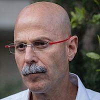 Yaron Blum, coordinator for negotiating the return of POWs and MIAs, on April 3, 2019 (Yonatan Sindel/Flash90)