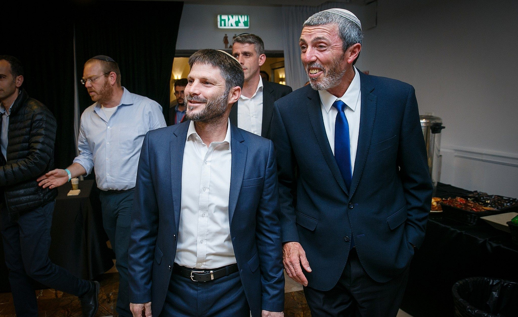 4f74f21e0832c2 Union of Right-Wing Parties leader Rafi Peretz (R) and MK Bezalel Smotrich