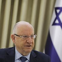 President Reuven Rivlin meets with party representatives at the President's Residence in Jerusalem on April 16, 2019 (Noam Revkin Fenton/Flash90)