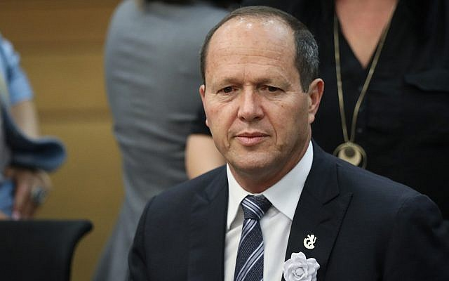Likud MK Nir Barkat attends a faction meeting ahead of the swearing-in of the new Knesset on April 30, 2019. (Noam Revkin Fenton/Flash90)
