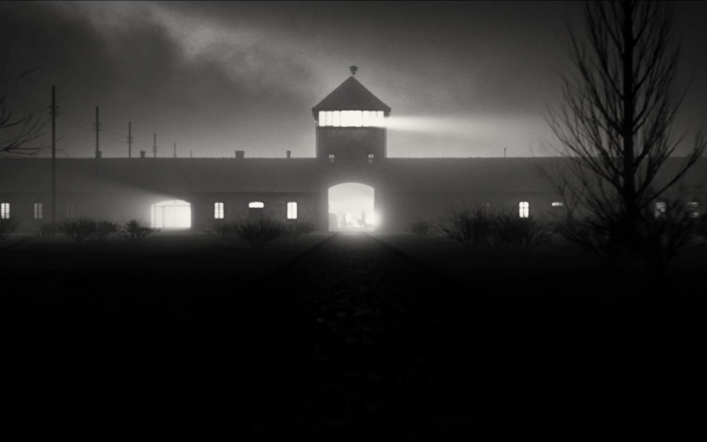 The entrance to Auschwitz, as shown in the new historical drama film 'A Rose in Winter.' (Courtesy Joshua Sinclair)