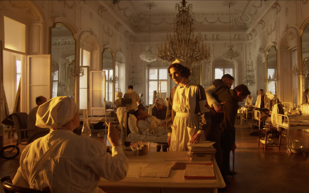 In this still from the new historical drama film 'A Rose in Winter,' Edith Stein works as a nurse for the Kaiser's army during World War I. (Courtesy Joshua Sinclair)