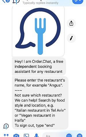 With chat and phone bots, Israeli service books restaurant