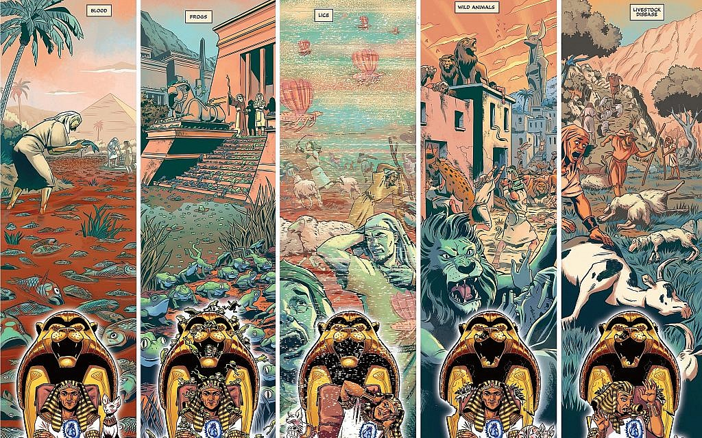 From 'Passover Haggadah Graphic Novel' by Jordan B. Gorfinkel and Erez Zadok (Courtesy Erez Zadok)
