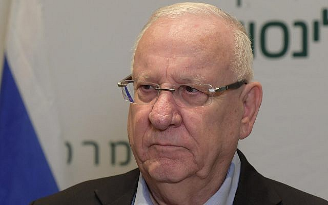 President Reuven Rivlin at Beilinson Hospital in Petah Tikva on April 3, 2019. (Amos Ben Gershom/GPO)