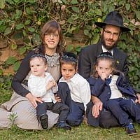 Rabbi Shmuel Notik, his wife Chaya and family (Facebook)