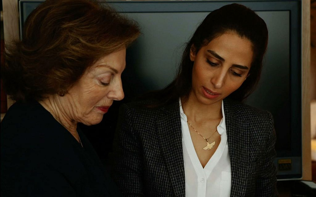 Eliane Cohanim, niece of Ibrahim Morady, left, speaks to Mahdieh zare Zardiny, director of the documentary film 'Sardari's Enigma.' (Courtesy Mahdieh Zare Zardiny)