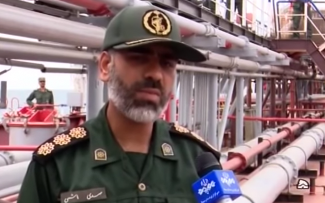 Islamic Revolution Guards Corps commander Alireza Tangsiri. (Screen capture/YouTube)