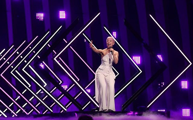 The UK's performance at Eurovision 2018 was interrupted by a protester. (Courtesy Dewayne Barkley/CC BY-SA 4.0)