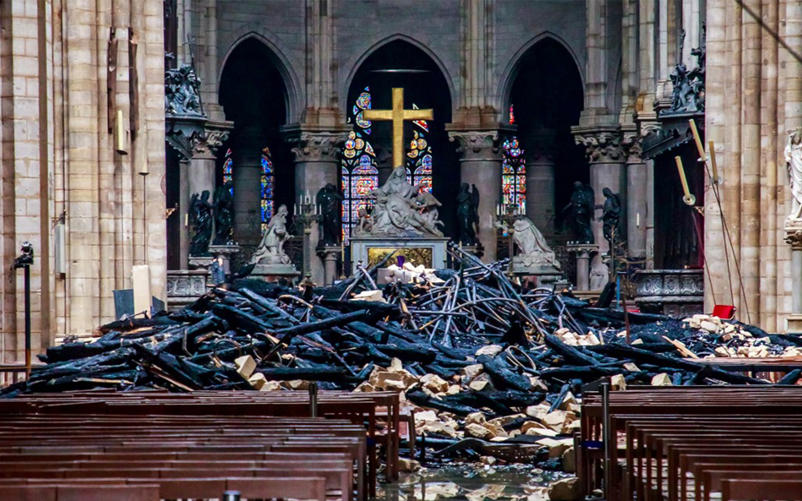 Flames out and treasures intact, but Notre Dame faces long recovery