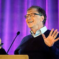 Microsoft co-founder Bill Gates speaks at the University of Washington in Seattle, February 28, 2019. (AP Photo/Elaine Thompson)
