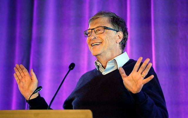 Microsoft cofounder Bill Gates speaks at the University of Washington in Seattle, February 28, 2019. (AP/Elaine Thompson)