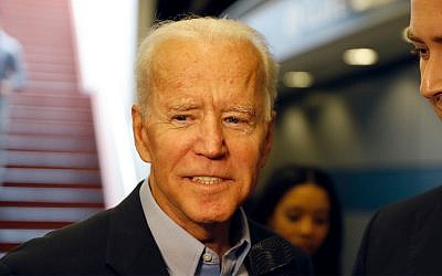 Former Vice President and Democratic presidential candidate Joe Biden arrives at the Wilmington train station, April 25, 2019 in Wilmington, Delaware. (AP Photo/Matt Slocum)