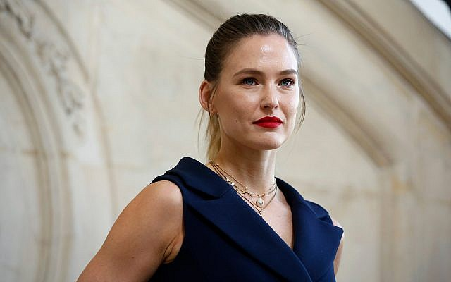 Bar Refaeli poses for photographers at a Paris fashion show, February 26, 2019. (AP Photo/Thibault Camus)
