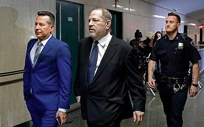 Harvey Weinstein at the State Supreme Court in New York, April 26, 2019. (AP Photo/Richard Drew)