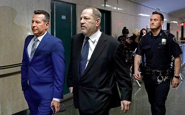 Harvey Weinstein at the State Supreme Court in New York, April 26, 2019. (AP Photo/Richard Drew)