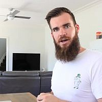 Australian comedian Isaac Butterfield. (YouTube screenshot)