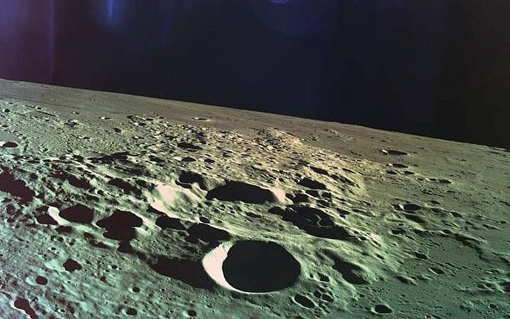 One of the last photos taken by Beresheet before crash landing into the moon on April 11, 2019. (Courtesy SpaceIL)