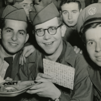 Jewish American soldiers celebrating Passover in Seoul, Korea, 1952. (American Jewish Historical Society)