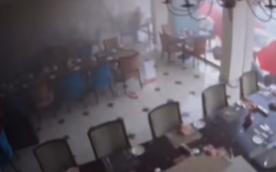 Footage of the explosion at the Kingsbury Hotel in Colombo, Sri Lanka, on April 21, 2019 (YouTube screenshot)