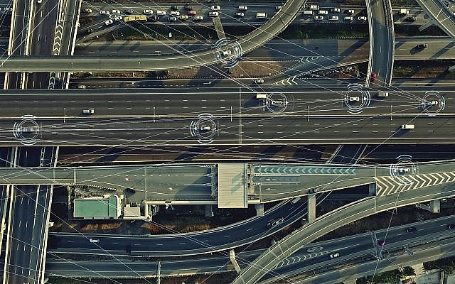 An illustrative image of smartcars on the road (LV4260; iStock by Getty Images)