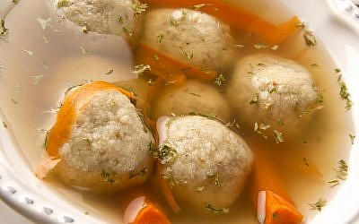 Traditional Passover matzah ball soup. (jrwasserman; iStock by Getty Images)