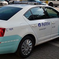 Illustrative photo of a Belgium police car in Antwerp city center. (Getty Images)