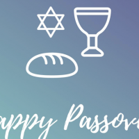 An image from a tweet from the UK Labour Party wishing Jews a happy Passover featuring a loaf of bread, April 19, 2019 (twitter)