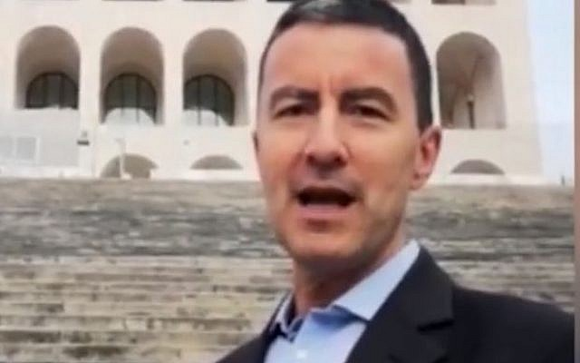 Caio Giulio Cesare Mussolini, Mussolini's great-grandson is running as a candidate in European elections for the far-right Brothers of Italy Party (Screencapture/Youtube)