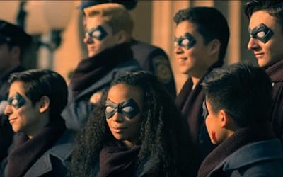 A screen capture from the Netflix superhero series 'The Umbrella Academy' (screen capture: Netflix)