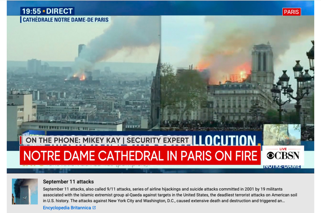 YouTube's Notre Dame-9/11 flub highlights AI's blind spots   The
