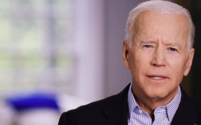 Joe Biden in his campaign announcement video, released April 25, 2019. (YouTube screenshot)
