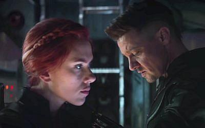 Scarlett Johansson and Jeremy Renner in 'Avengers: Endgame.' (Courtesy Marvel Studios)